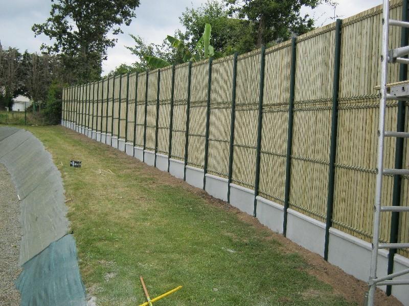 clôture rigide occultante bois à Plaintel (22)   ASM Fermetures